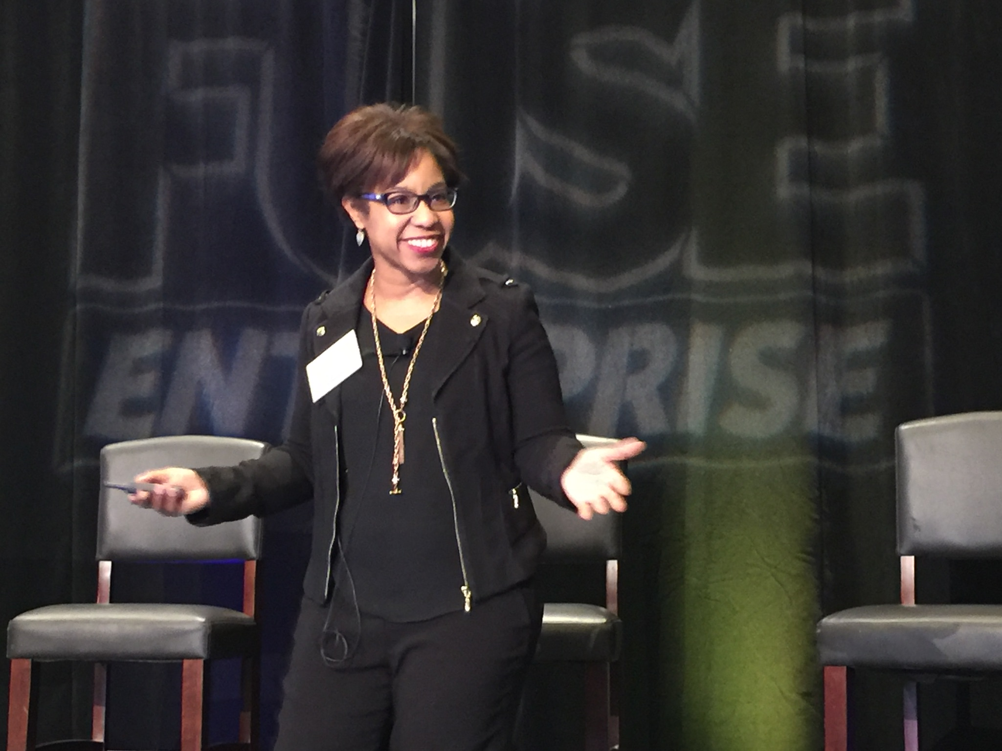 Brande Martin, speaking at digital marketing conference